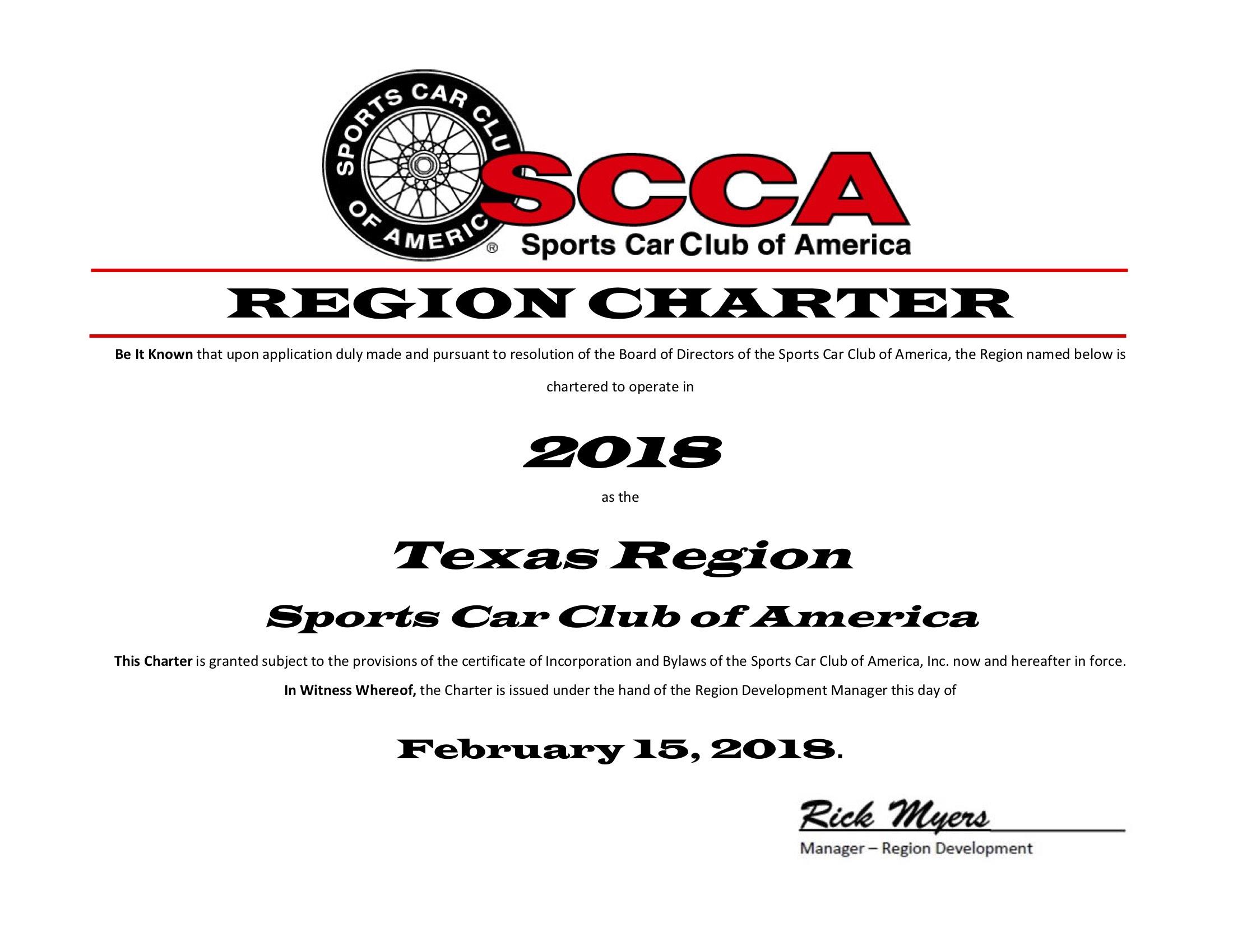 2018 region charter